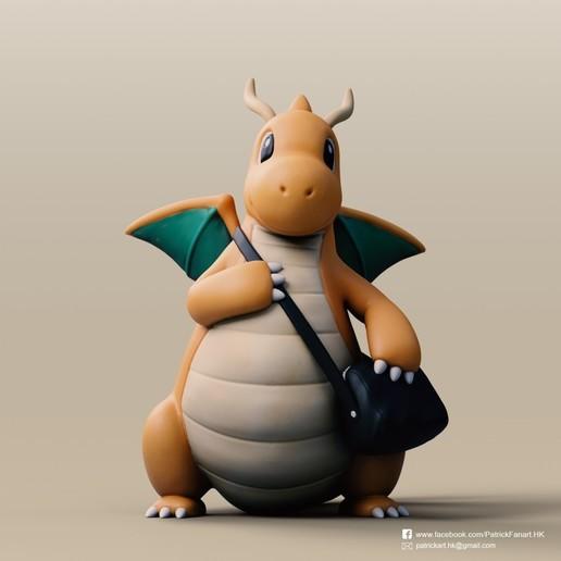 Download free 3D printing designs Dragonite(Pokemon), PatrickFanart