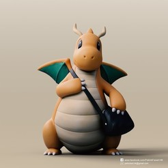 Download free 3D printing designs Dragonite(Pokemon), PatrickFanart