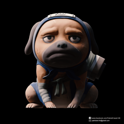 Download free 3D printer model Pakkun(Naruto), PatrickFanart