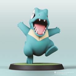 Totodile_2.png Télécharger fichier STL Totodile(Pokemon) • Objet imprimable en 3D, PatrickFanart