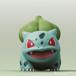 Bulbasaur_2.png Download free STL file Bulbasaur(Pokemon) • Object to 3D print, PatrickFanart