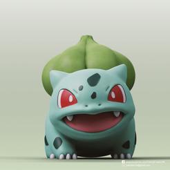 Bulbasaur_2.png Télécharger fichier STL gratuit Bulbasaur(Pokemon) • Plan à imprimer en 3D, PatrickFanart