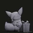 Christmas Eevee_5.png Download STL file Pikachu & Eevee(Pokemon) • 3D printer template, PatrickFanart