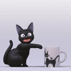 JiJi_1.png Download STL file Jiji (Kiki's delivery service) • Template to 3D print, PatrickFanart