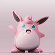 Wigglytuff_2.png Download free STL file Wigglytuff(Pokemon) • Template to 3D print, PatrickFanart