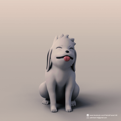 Imprimir en 3D gratis Akamaru (Naruto), PatrickFanart