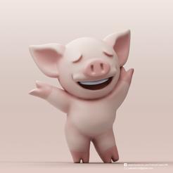 Download free STL file  LIHKG Pig(LIHKG) • 3D printing design, PatrickFanart