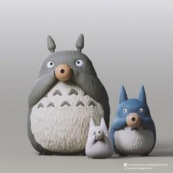 Totoro Family_2.jpg Télécharger fichier STL gratuit Famille Totoro(Mon voisin Totoro) • Plan à imprimer en 3D, PatrickFanart