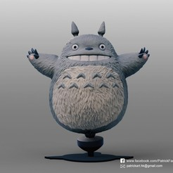 Download free STL Totoro(My Neighbor Totoro), PatrickFanart
