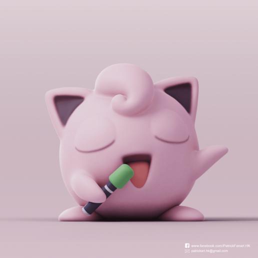 Download free 3D printer designs Jigglypuff(Pokemon), PatrickFanart