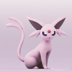 Espeon_2.jpg Télécharger fichier STL gratuit Espeon(Pokemon) • Design pour impression 3D, PatrickFanart