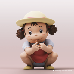Download free STL file Mei Kusakabe(My Neighbor Totoro) • 3D printer design, PatrickFanart