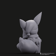 Christmas Eevee_4.png Download STL file Pikachu & Eevee(Pokemon) • 3D printer template, PatrickFanart