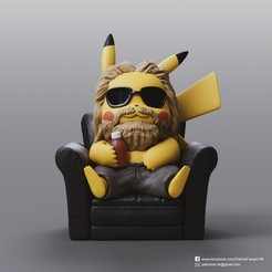 Download free 3D model Pikachu X Thor (Pokemon/Thor), PatrickFanart
