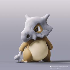 Descargar archivos STL gratis Cubone(Pokemon), PatrickFanart
