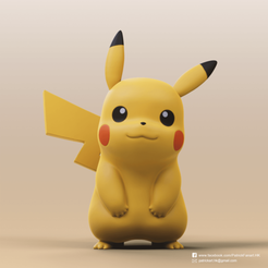 Pikachu_1.png Download STL file Pikachu(Pokemon) • Object to 3D print, PatrickFanart