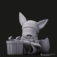 Christmas Eevee_1.png Download STL file Pikachu & Eevee(Pokemon) • 3D printer template, PatrickFanart