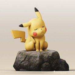 Pikachu_1_1.jpg Download STL file Pikachu(Pokemon) • Object to 3D print, PatrickFanart