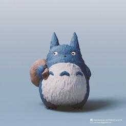 Impresiones 3D gratis Totoro medio (mi vecino Totoro), PatrickFanart