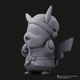 Christmas Pikachu_2.png Download STL file Pikachu & Eevee(Pokemon) • 3D printer template, PatrickFanart