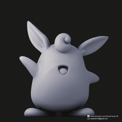Wigglytuff_4.png Download free STL file Wigglytuff(Pokemon) • Template to 3D print, PatrickFanart