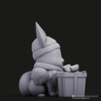 Christmas Eevee_7.png Download STL file Pikachu & Eevee(Pokemon) • 3D printer template, PatrickFanart
