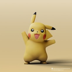 Download free 3D printer designs Pikachu(Pokemon), PatrickFanart