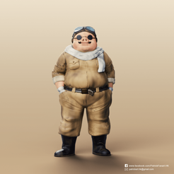 Porco Rosso_2.png Download free STL file Marco Pagot(Porco Rosso) • Object to 3D print, PatrickFanart