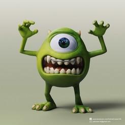 Mike Wazowski_2.jpg Download free STL file Mike Wazowski(Monsters University) • 3D printing design, PatrickFanart