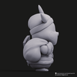 Christmas Pikachu_7.png Download STL file Pikachu & Eevee(Pokemon) • 3D printer template, PatrickFanart