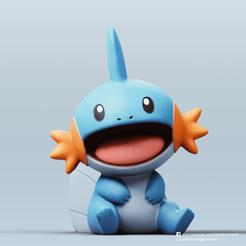 Mudkip_2.png Download free STL file Mudkip(Pokemon) • 3D printable design, PatrickFanart