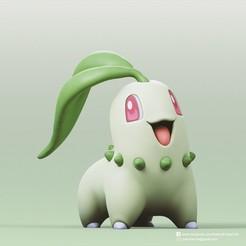 Chikorita_2.jpg Télécharger fichier STL gratuit Chikorita(Pokemon) • Plan pour impression 3D, PatrickFanart