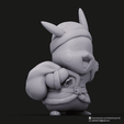 Christmas Pikachu_8.png Download STL file Pikachu & Eevee(Pokemon) • 3D printer template, PatrickFanart