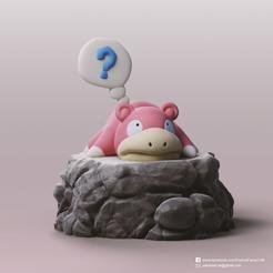 Slowpoke_2.png Télécharger fichier STL gratuit Slowpoke(Pokemon) • Objet imprimable en 3D, PatrickFanart