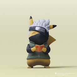 Descargar archivos 3D gratis Pikachu X Kakashi (Pokemon/Naruto), PatrickFanart