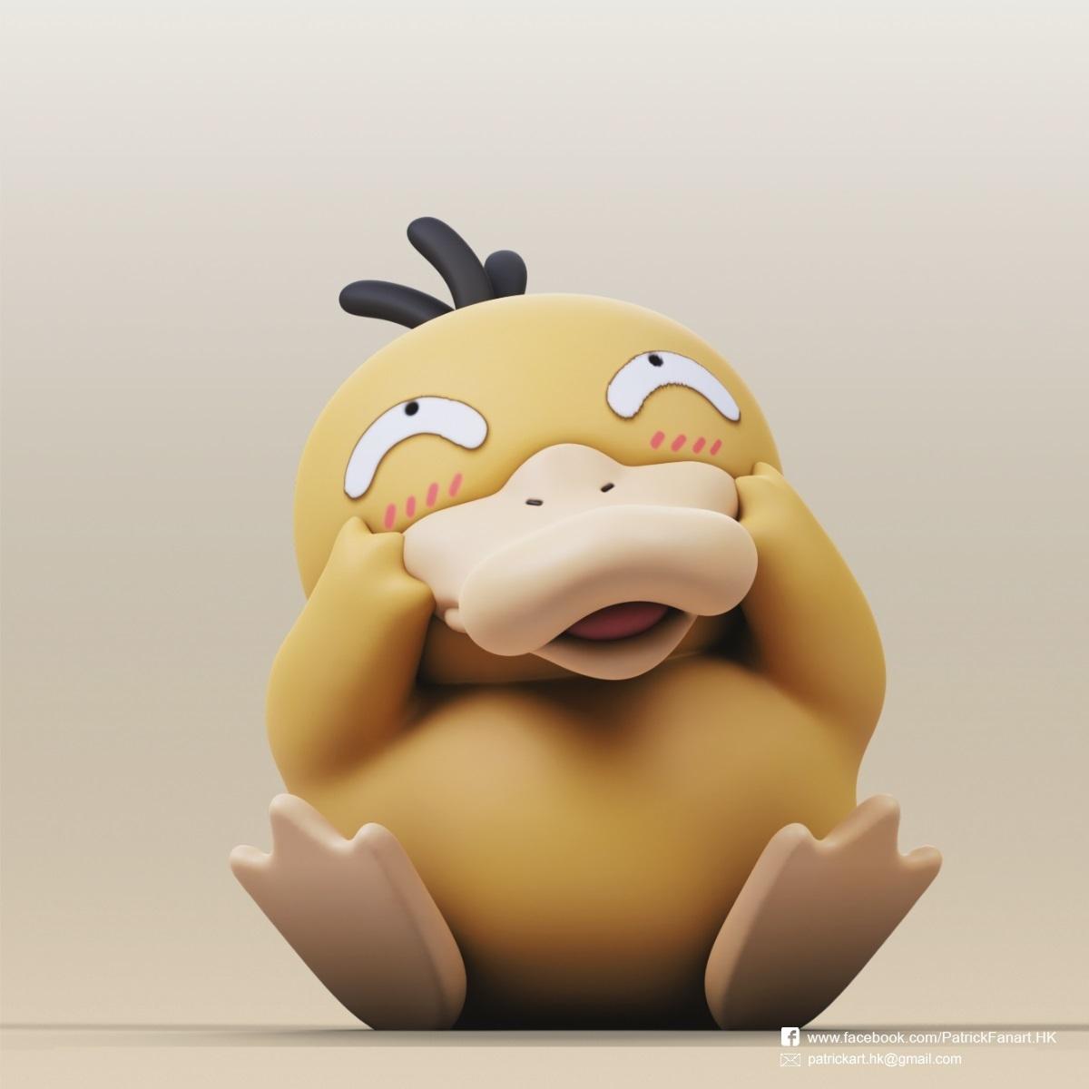 Psyduck_2.jpg Download free STL file Psyduck(Pokemon) • Design to 3D print, PatrickFanart