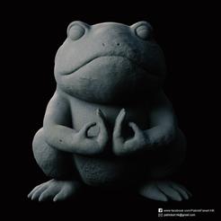 Stone Frog_2.png Télécharger fichier STL gratuit Grenouille de pierre (Naruto) • Modèle pour impression 3D, PatrickFanart