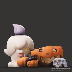 Halloween _2.png Descargar archivo STL gratis Halloween Pumpkin • Modelo para imprimir en 3D, PatrickFanart