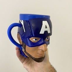 Download 3D model Captain American mug, cup - taza capitán américa, rfautario