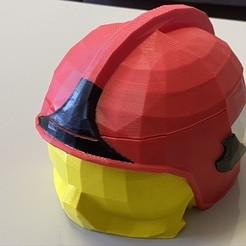 F8DCB97C-B352-47B5-BE11-CBBD73608626_1_105_c.jpeg Download STL file Firefighter's Gallet F1 helmet mug / yerba mate - Firefighter's Gallet F1 helmet mate / cup • Design to 3D print, rfautario