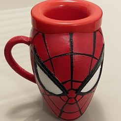 Download 3D printer templates Spiderman fist mug - Taza puño Spiderman / Hombre Araña, rfautario