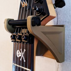 LGWM1.jpg Download free STL file Locking Guitar Wall Mount • 3D printable object, Superbeasti