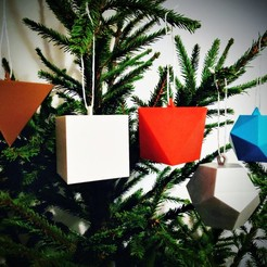 Download free 3D printer files Platonic Solids (Christmas Ornaments), Superbeasti