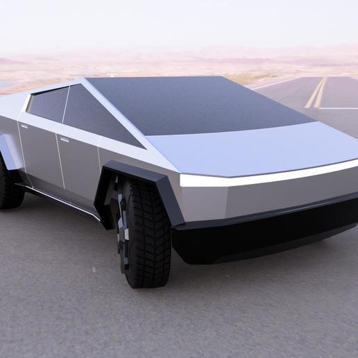Cybertruck1.jpg Télécharger fichier STL gratuit Cybertruck (kit carrosserie + châssis imprimable) • Plan pour impression 3D, Superbeasti
