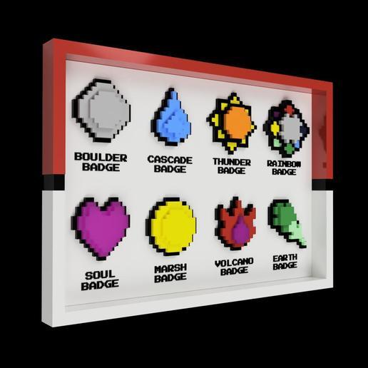 Impresiones 3D gratis BADGES + display (1ª Generación), Superbeasti