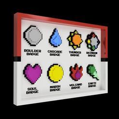 Télécharger plan imprimante 3D gatuit BADGES + afficheur (1ère génération), Superbeasti