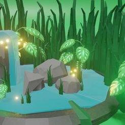 Capture.JPG Télécharger fichier STL gratuit Forest with plant and leaves and things • Modèle pour imprimante 3D, Emile_Bedard