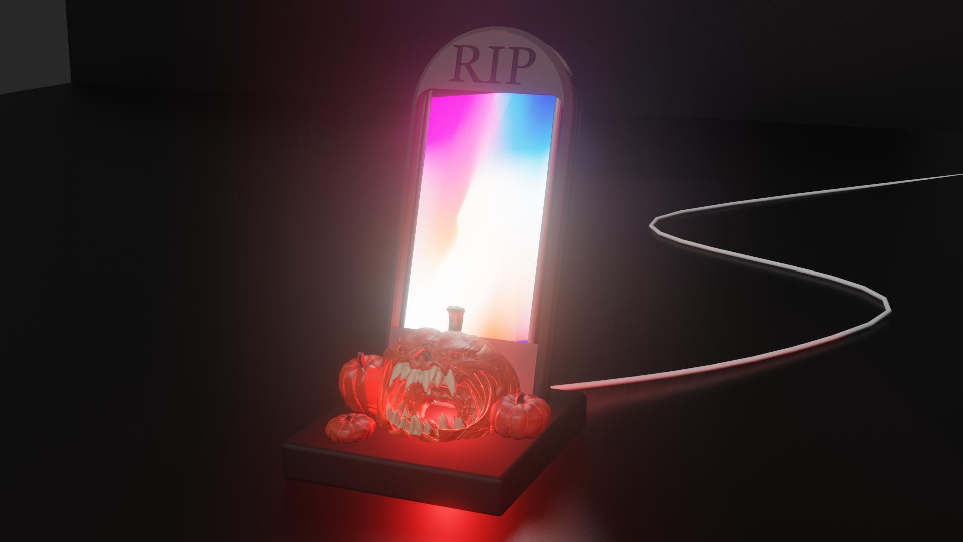 amplifiergoood.png Télécharger fichier STL gratuit Dock lugubre d'halloween tombe citrouille • Design pour impression 3D, Emile_Bedard