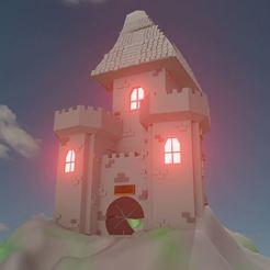 Télécharger plan imprimante 3D gatuit Castle medieval style, Emile_Bedard