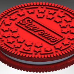 Galleta Supreme.png Download STL file Supreme Cookie • 3D printer template, tronx3321v